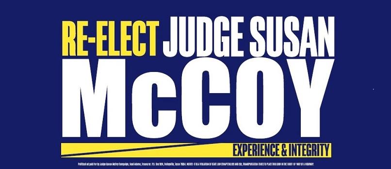 Susan McCoy for  Judge